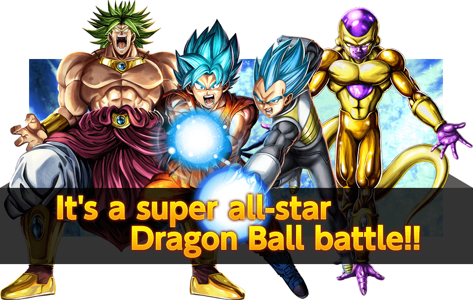 It's a super all-star Dragon Ball battle!!