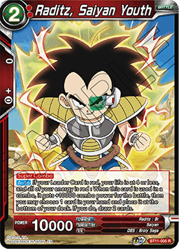 Raditz, Saiyan Youth