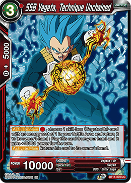SSB Vegeta, Technique Unchained
