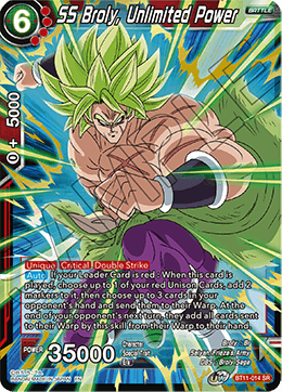 SS Broly, Unlimited Power