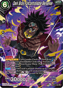 Dark Broly, Uncontrollable Berserker