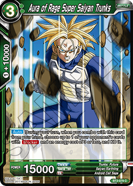 Aura of Rage Super Saiyan Trunks