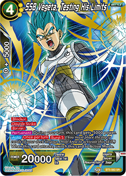 SSB Vegeta, Testing His Limits