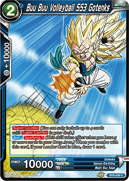 Common the Ultimate Option BT6-038 C Dragonball Super: Gokule Blue