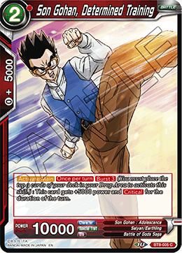 Son Gohan, Determined Training