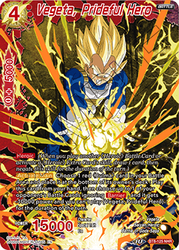 Vegeta, Prideful Hero