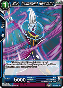 Whis, Tournament Spectator
