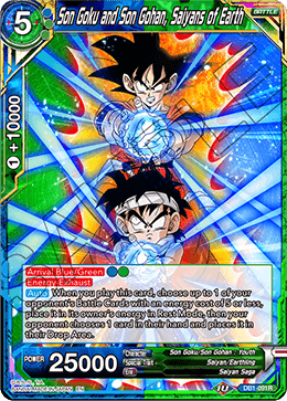 Son Goku and Son Gohan, Saiyans of Earth