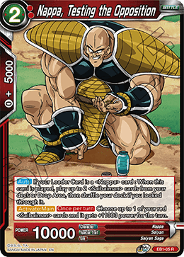 Nappa, Testing the Opposition