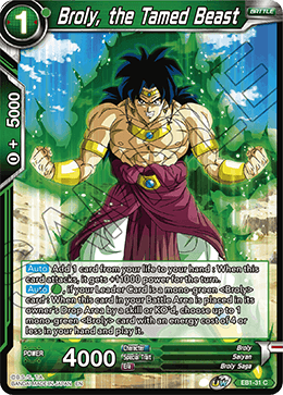 Broly, the Tamed Beast
