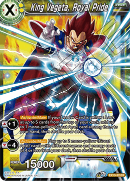King Vegeta, Royal Pride