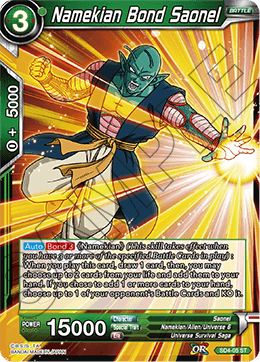 Namekian Bond Saonel