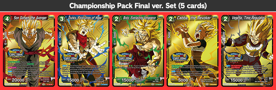 Championship Pack Final ver. Set (5 cards)