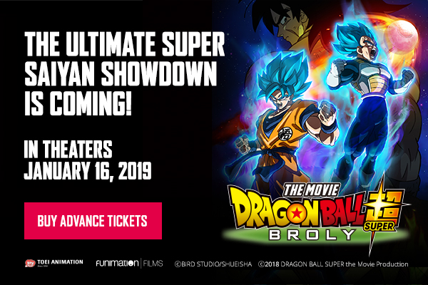 """Dragon Ball Super: Broly"" will hit movie theater"
