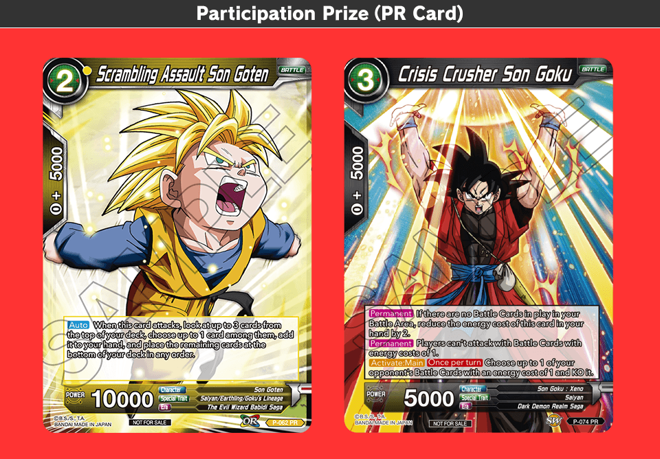 Participation Prize(PR Card)