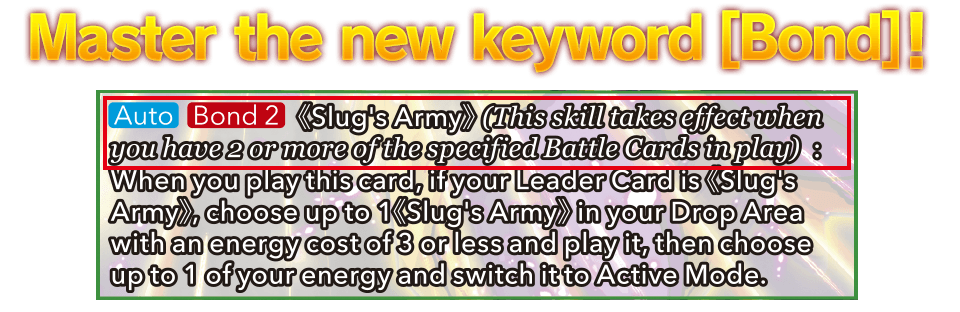 Master the new keyword [Bond]!