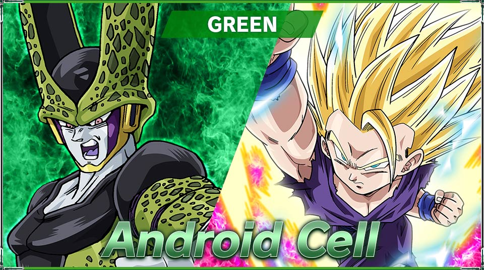 Green Android Cell